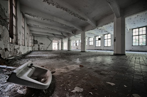 old factory hall